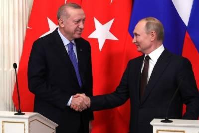 Эрдоган поблагодарил Путина за открытие Турции для россиян