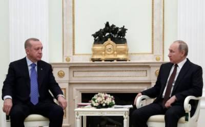 Эрдоган выразил Путину поддержку в усилиях по реализации договорëнностей по Карабаху