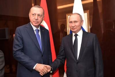Эрдоган выразил Путину признательность за возобновление полетов и поставки «Спутника V»