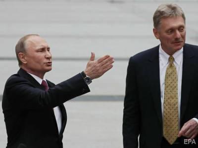 В Кремле заявили, что введение Киевом санкций можно счесть шагом по недопущению встречи Путина и Зеленского