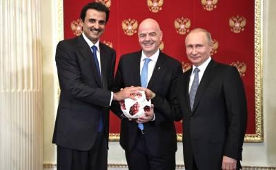 Путин поблагодарил эмира Катара за участие в ПМЭФ