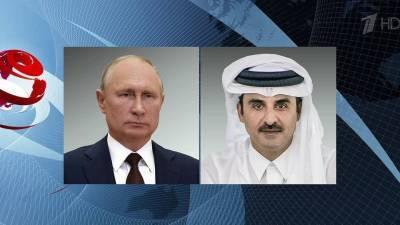 Владимир Путин провел телефонный разговор с эмиром Катара Тамимом Бен Хамадом Аль Тани
