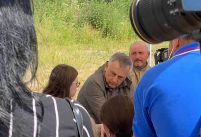 Александр Дрозденко приехал с рабочей поездкой во Тосненский район
