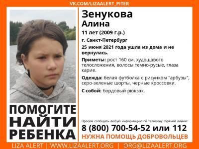 В Петербурге без вести пропала 11-летняя девочка