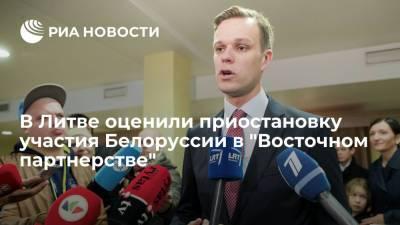 """Глава МИД Литвы раскритиковал приостановку Белоруссией участия в """"Восточном партнерстве"""""""