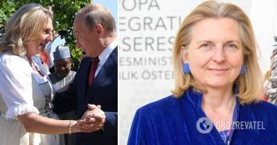 Путин Кнайсль: экс-глава МИД Австрии получила должность в Роснефти