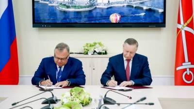 Беглов и Костин подписали соглашение о строительстве второй очереди аэропорта Пулково