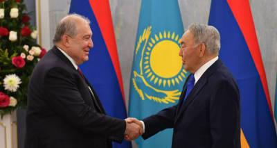 Между Арменией и Казахстаном нет нерешенных проблем – Саркисян встретился с Назарбаевым