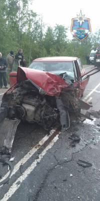 Спасателям пришлось деблокировать пострадавших в аварии во Всеволожском районе — фото