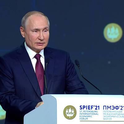 Владимир Путин поприветствовал участников и организаторов ПМЭФ
