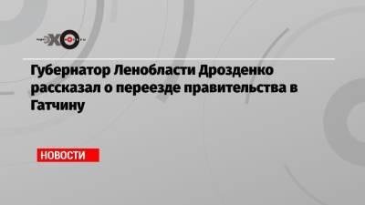 Губернатор Ленобласти Дрозденко рассказал о переезде правительства в Гатчину