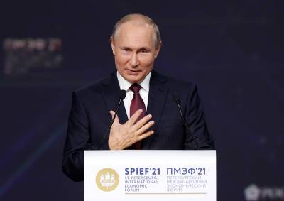 """""""Северный поток-2"""", ипотека и США: о чем говорил Путин на ПМЭФ"""