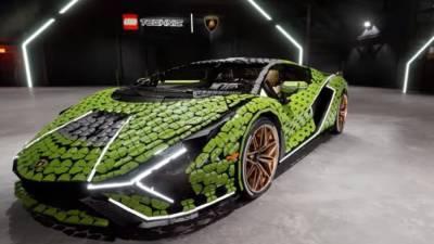 Итальянский суперкар Lamborghini Sian собрали из Lego