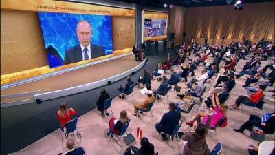 Ежегодная пресс-конференция Президента Российской Федерации Владимира Путина. Путин: с 1 января 2021 года увеличится объем поддержки семей с детьми