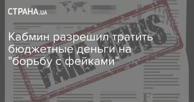 """Кабмин разрешил тратить бюджетные деньги на """"борьбу с фейками"""""""