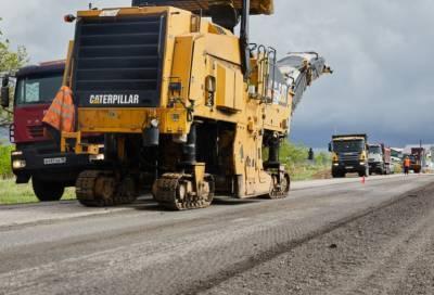 Ремонт двух участков региональной трассы начался в Тихвинском районе