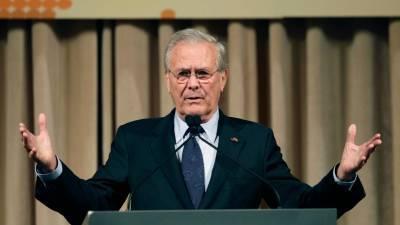 Скончался бывший министр обороны США Дональд Рамсфельд