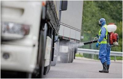 В пункте пропуска «Новая Гута» на границе с Украиной начинается эксперимент по обязательной дезинфекции транспорта