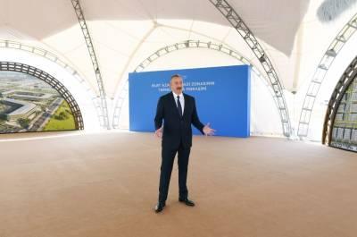 Президент Ильхам Алиев: Перспектива развития Алята может быть очень успешной