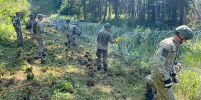 Литва начала строить стену из колючей проволоки на границе с Белоруссией
