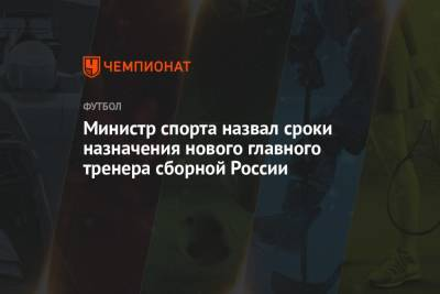 Министр спорта назвал сроки назначения нового главного тренера сборной России