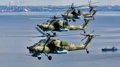 Истребители в небе над Петербургом отрепетировали военно-морской парад