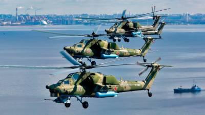 Первая тренировка воздушной части парада ВМФ прошла в Петербурге
