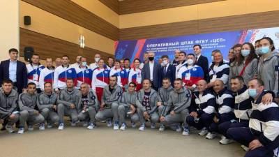 Талисманами олимпийской сборной России стали Мишка-неваляшка и Шапко-кот (ВИДЕО)
