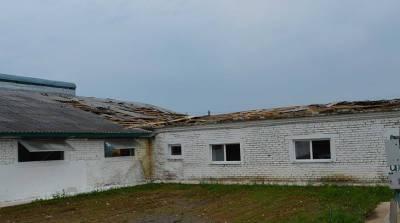 В Гродненской области из-за непогоды повреждены кровли более 50 зданий