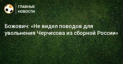 Божович: «Не видел поводов для увольнения Черчесова из сборной России»