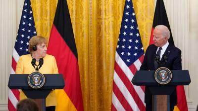 """""""Добрые друзья"""" разошлись во мнениях: итоги встречи Меркель и Байдена"""