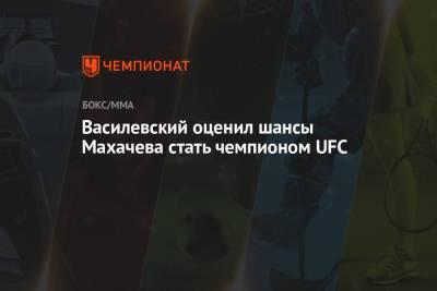 Василевский оценил шансы Махачева стать чемпионом UFC