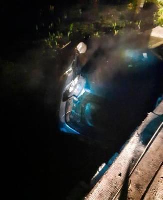 В Курганской области погиб мужчина, который на машине вылетел с моста в реку и погиб