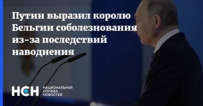 Путин выразил королю Бельгии соболезнования из-за последствий наводнения