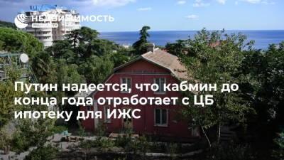 Путин надеется, что кабмин до конца года отработает с ЦБ ипотеку для ИЖС
