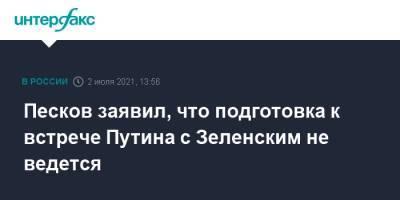 Песков заявил, что подготовка к встрече Путина с Зеленским не ведется