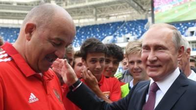 Черчесов заявил, что на сборе смотрел только пресс-конференцию Путина