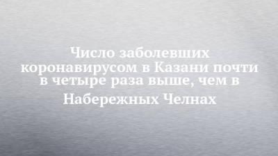 Число заболевших коронавирусом в Казани почти в четыре раза выше, чем в Набережных Челнах