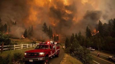 Дым от лесных пожаров на западе США дошел до Нью-Йорка