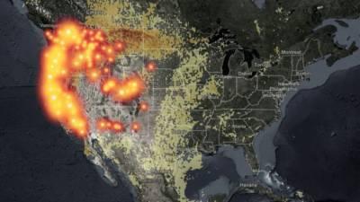 Дым от лесных пожаров на западе США достиг восточного побережья