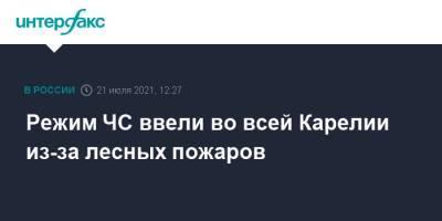 Режим ЧС ввели во всей Карелии из-за лесных пожаров
