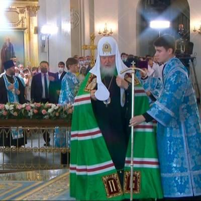 Патриарх Кирилл освятил восстановленный собор Казанской иконы Божией Матери в Казани