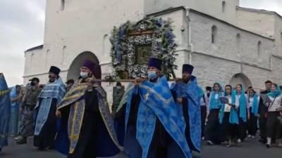 Видео из Сети. В Казани состоялся чин освящения Собора Казанской иконы Божией Матери