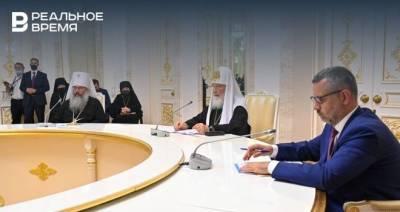 Минниханов поблагодарил патриарха Кирилла за освящение собора Казанской иконы Божией Матери