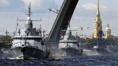 Путин примет участие в военно-морском параде в Петербурге