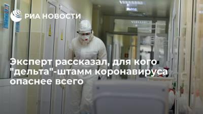 """Научный сотрудник МГУ Сергей Харитонов рассказал, для кого """"дельта""""-штамм коронавируса опаснее всего"""