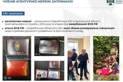 СБУ заблокировала сеть агентов ФСБ, среди которых были чиновники и правоохранители