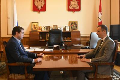 Глава региона и сенатор от Смоленской области обсудили вопросы социально-экономического развития