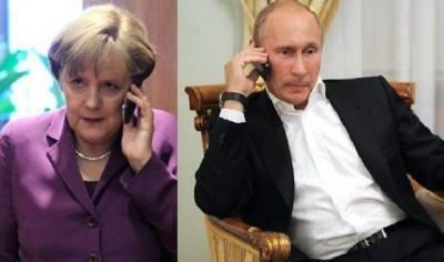 Меркель обсудила транзит газа с Путиным