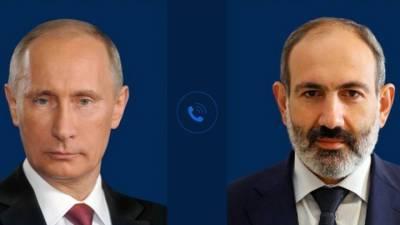 """Новости на """"России 24"""". Путин и Пашинян обсудили Нагорный Карабах"""